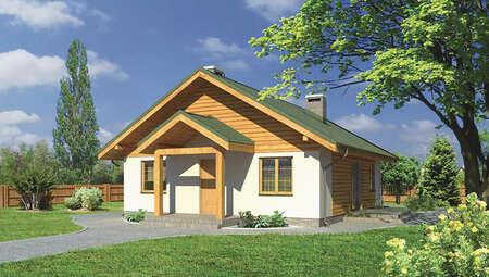 Жилой дом квадратной формы