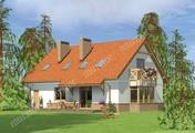 Проект симпатичного дома с большой мансардой