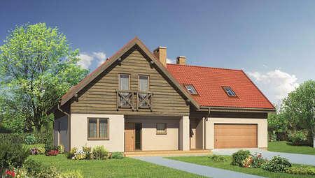 Проект двухэтажного дома с красивым декором