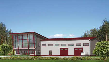 Проект современного здания универсального назначения