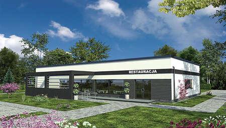 Проект современного здания общественного питания