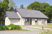 Жилой дом с двумя гостиными и гаражом