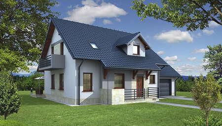 Проект двухэтажного жилого дома в благородной расцветке