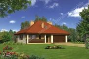Проект красивого дома с мансардой и большим гаражом