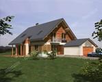 Проект красивого дома с деревянным декором