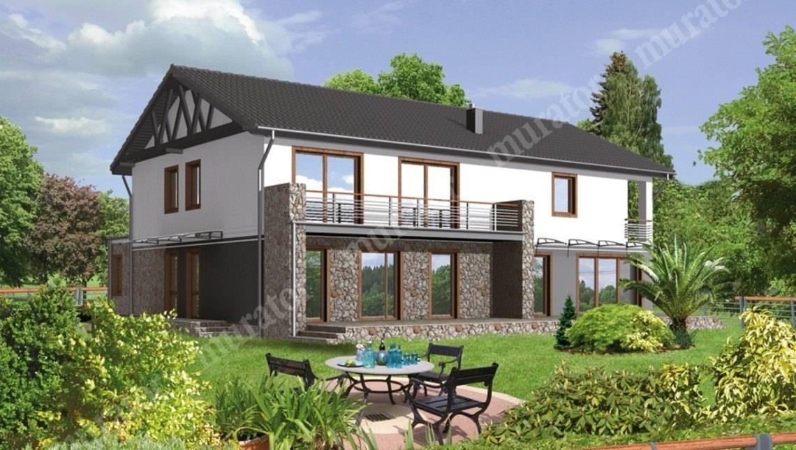 Проект просторного двухэтажного дома на 8 спален