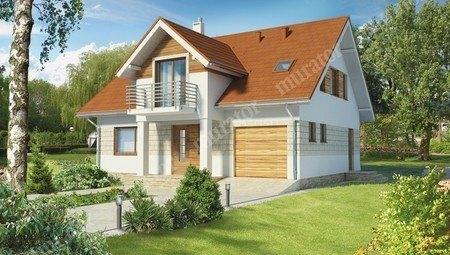 Проект привлекательного дома с большой гостиной