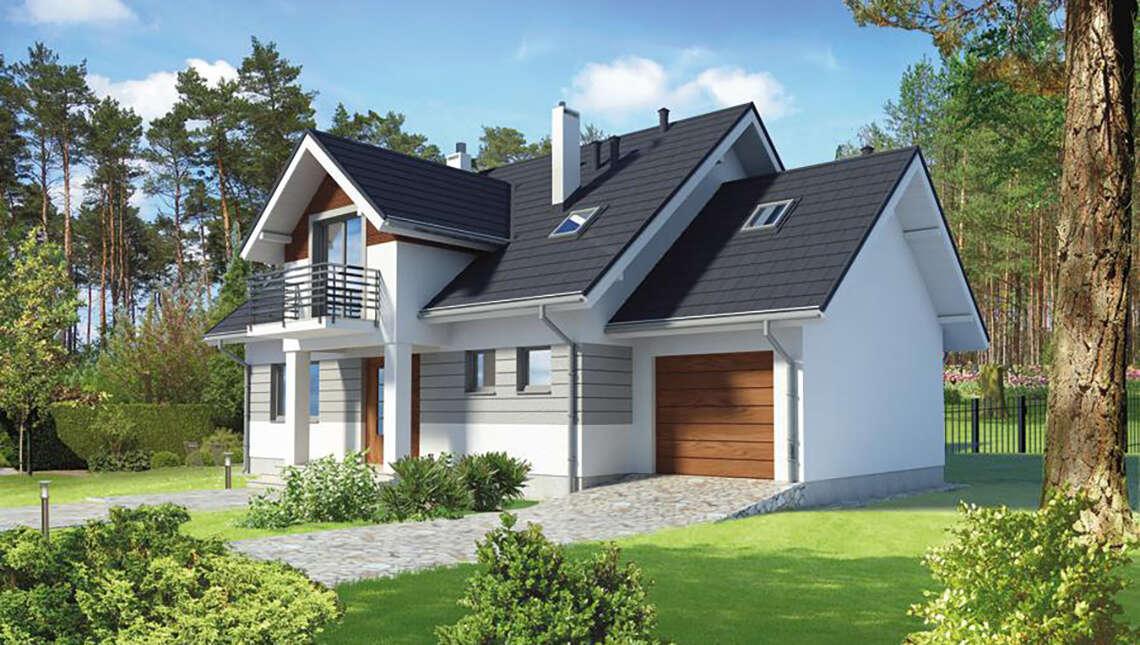 Привлекательный жилой дом в серо-коричневых тонах