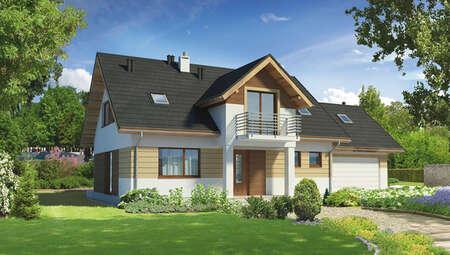 Видный двухэтажный жилой дом