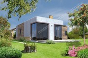 Проект одноэтажного дома из кубических форм