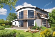 Проект двухэтажного дома под интересной крышей