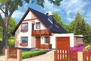 Проект яркого жилого дома на 5 спален