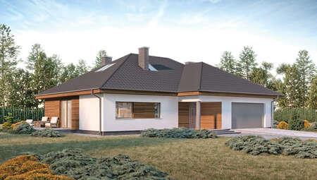 Проект запоминающегося двухэтажного дома на 7 спален