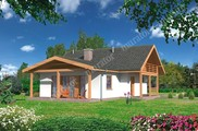 Проект интересного двухэтажного жилого дома