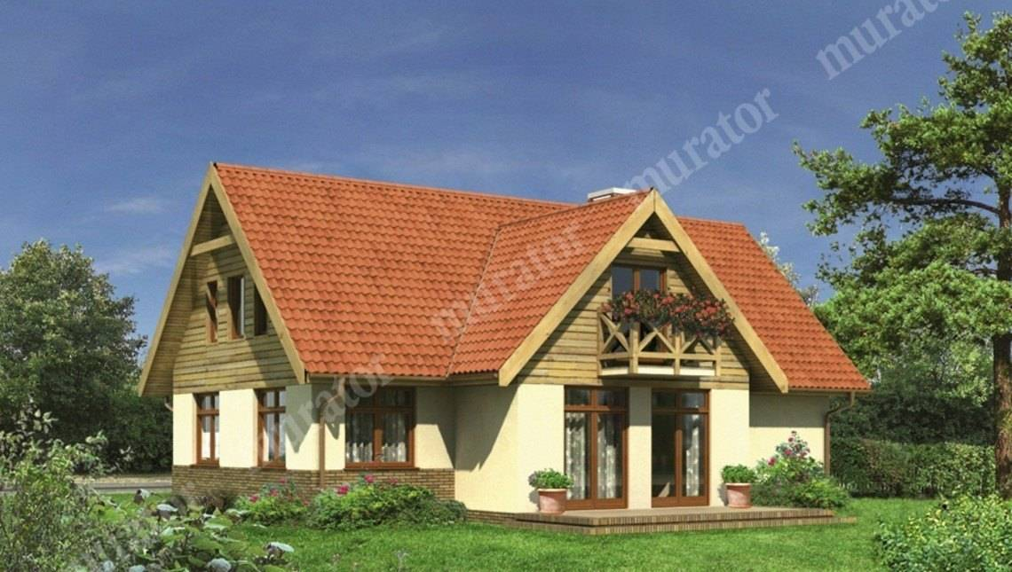 Проект двухэтажного привлекательного дома