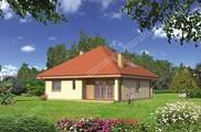 Красивый красивого двухэтажного дома под острой крышей