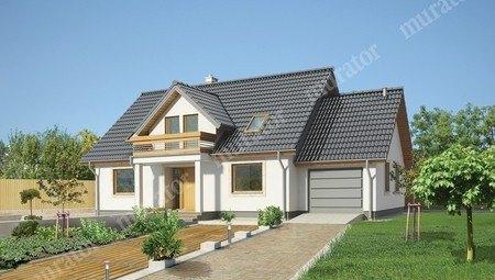 Проект стильного жилого дома с двумя балконами