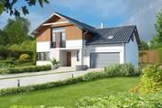 Проект изящного дома с просторным гаражом