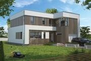 Проект жилого дома в стиле минимализма на 2 этажа