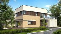 Современный двухэтажный дом с летней террасой
