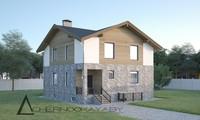 План шикарного просторного особняка жилой площадью 130 кв. м