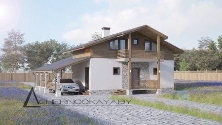 Интересный загородный дом для отдыха и банных процедур
