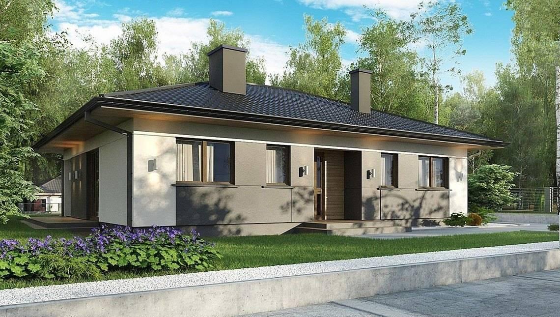 Планировка коттеджа на 124 кв. м с трехкомнатными апартаментами владельца