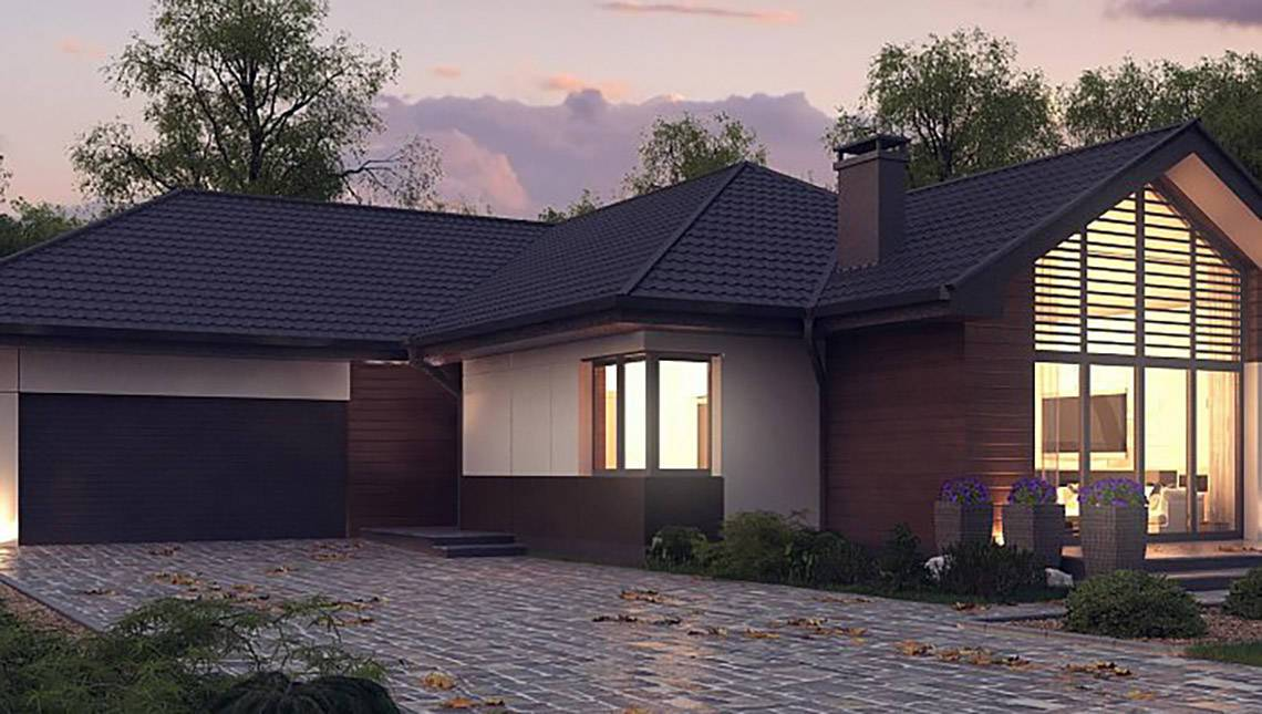 Проект современного дома в стиле барнхаус