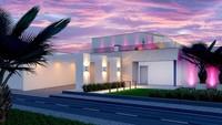 План белоснежного коттеджа на 224 кв. м с террасой на втором этаже