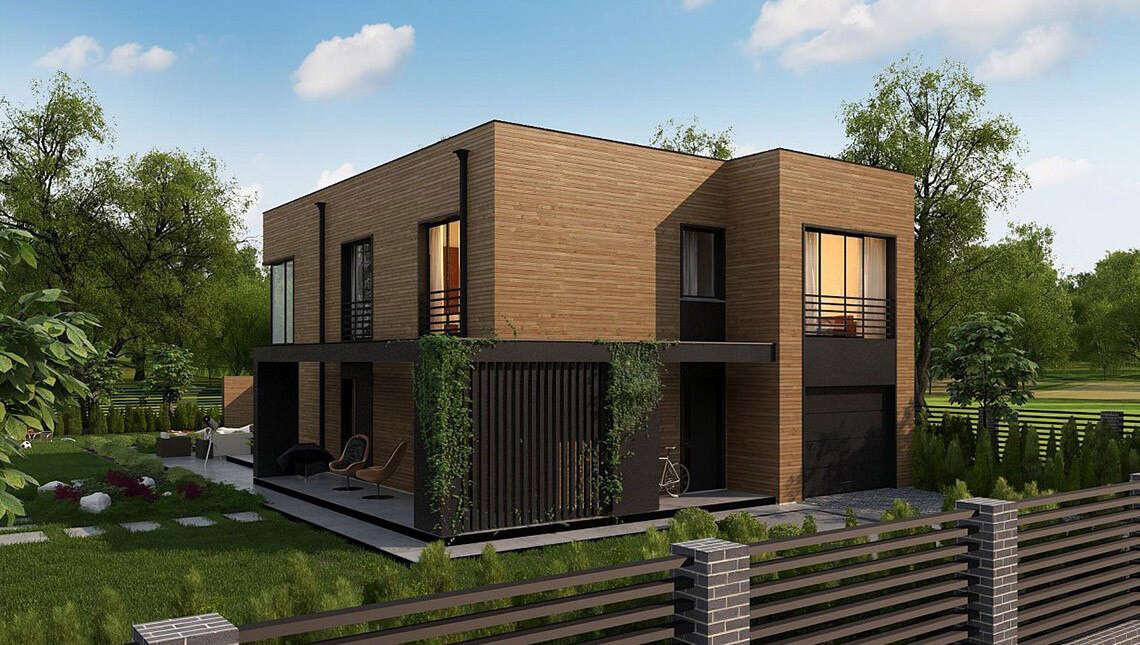 Планировка просторного коттеджа на 177 кв. м с четырьмя спальнями