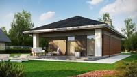 Проект компактного дома площадью 89 кв. м для узкого участка