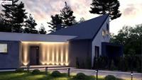 Проект стильного дома нестандартной конструкции площадью 243 кв. м