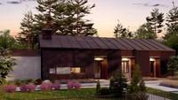 Чертеж дома площадью 170 кв. м в шоколадной расцветке
