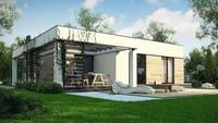 План дома площадью 102 кв. м с вместительной террасой