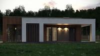 План компактного дома на 103 кв. м для небольшого узкого участка