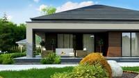 Планировка дачного дома площадью 86 кв. м для сезонного семейного отдыха