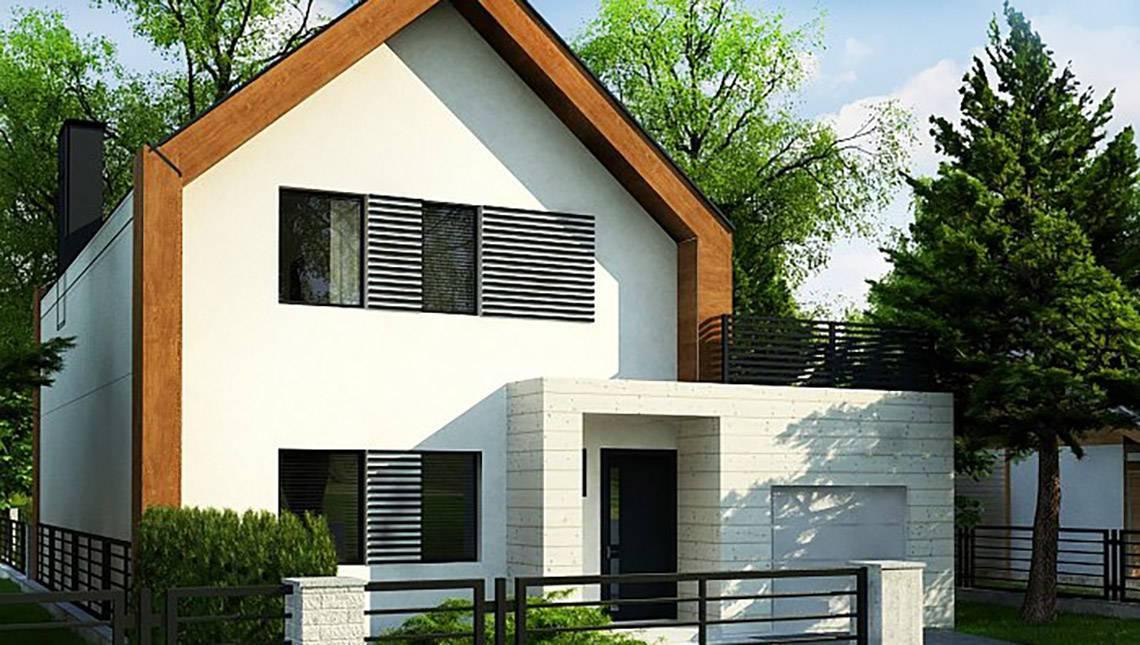 Чертеж комфортабельного дома на 173 кв. м с двумя гостиными и пристроенным гаражом