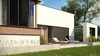 План дома площадью 234 кв. м с цокольным этажом и просторной террасой