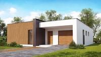 Проект жилого дома на 148 кв. м с деревянным декором