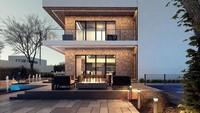 Проект дома в два этажа на 183 кв. м с просторной лоджией и балконом