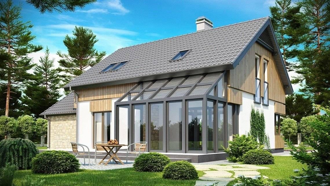 Проект уютного дома с застекленной террасой