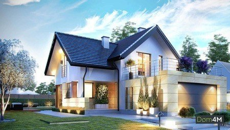 Проект нарядного особняка с просторными верандами и террасами
