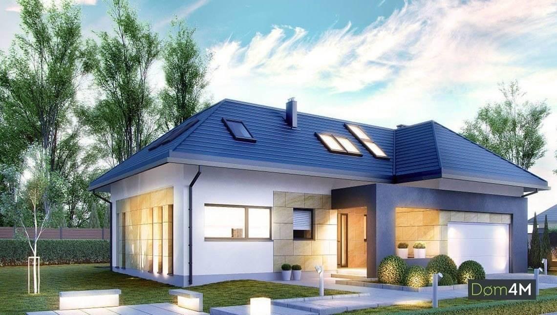 Красивый мансардный дом на две веранды