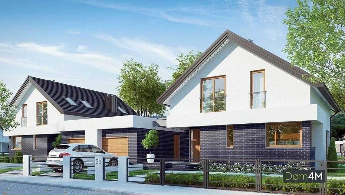 Cтильный современный жилой дом на две семьи