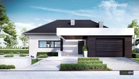 Стильный жилой дом, выполненный в благородных оттенках