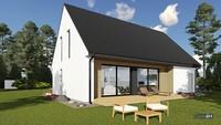 Проект стильного жилого дома с гаражом