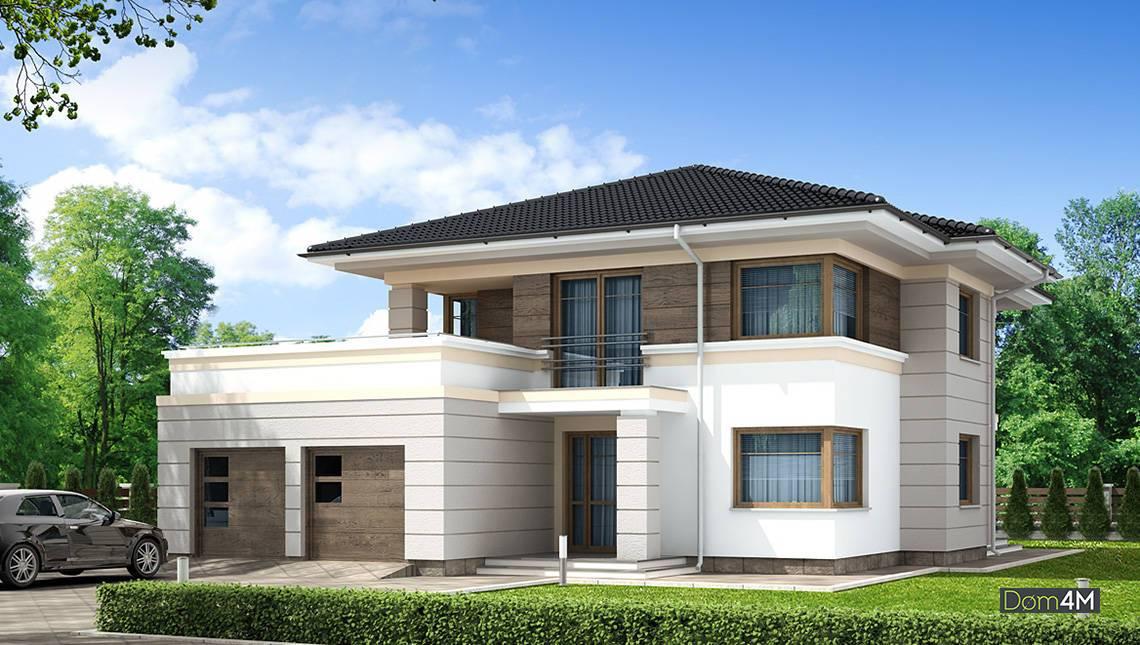 Классический жилой дом для загородного участка