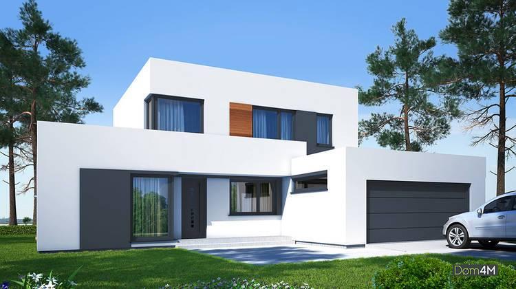 Стильный двухэтажный дом с каминной зоной