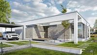 Роскошный одноэтажный жилой дом с двумя верандами