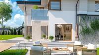 Приятного вида двухэтажный дом с гаражом на два автомобиля